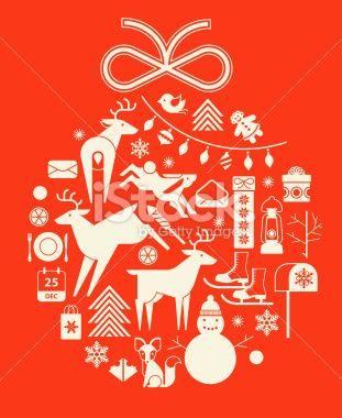 Christmas ball Royalty Free Stock Vector Art Illustration