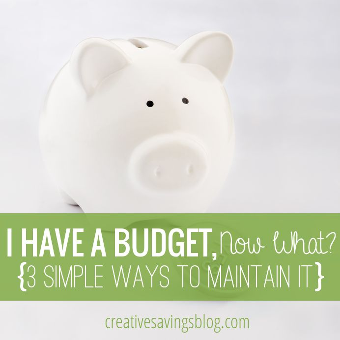 Have a budget, but not quite sure where to go next? Follow these 3 simple maintenance tips to stay on track and reach all of your savings goals!