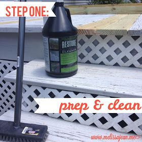 Melissa Carrier [@Jemstaa]]: Rustoleum Deck Restore Project and Review