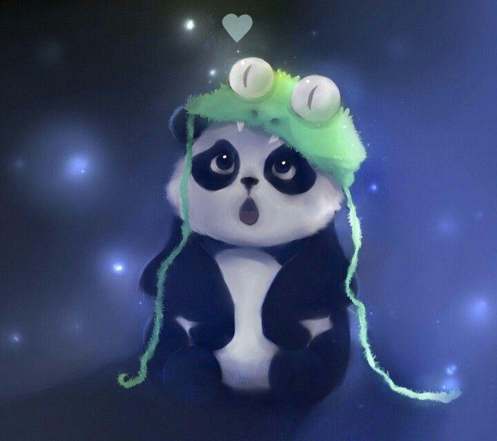 Панда в акварели - как живая!