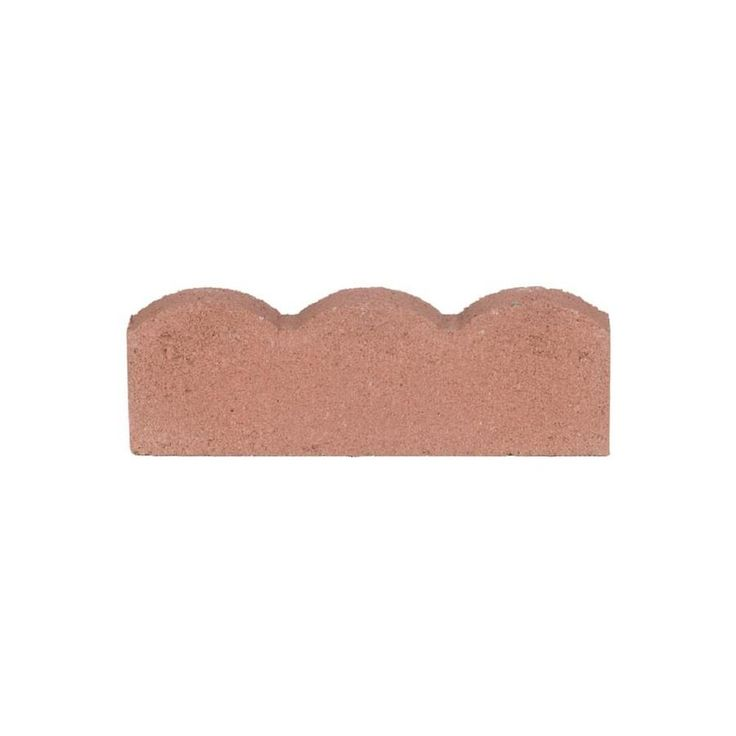 Scalloped Red Straight Edging Stone Common 2 In X 16 In Actual 2 In X 16 In Edging Stones Brick Edging Stone Edging