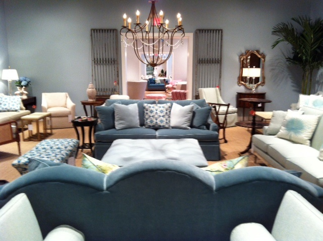 A Cool Blue Living Room From Pearson Furniture All Made In America Toured