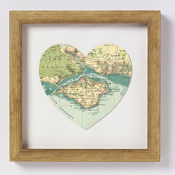This IOW heart shaped map hangs in our hallway