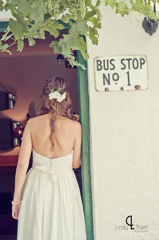 Braided Bridal Hairdo with florals ft. in Eco Friendly Karoo Style Garden Wedding, South Africa   Confetti Daydreams ♥ ♥ ♥ LIKE US ON FB: www.facebook.com/confettidaydreams ♥ ♥ ♥ #Wedding #RealBride #GreenWedding