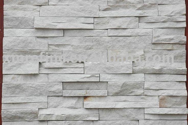 Revestimiento de la pared de piedra natural de cuarcita - Piedra revestimiento exterior ...