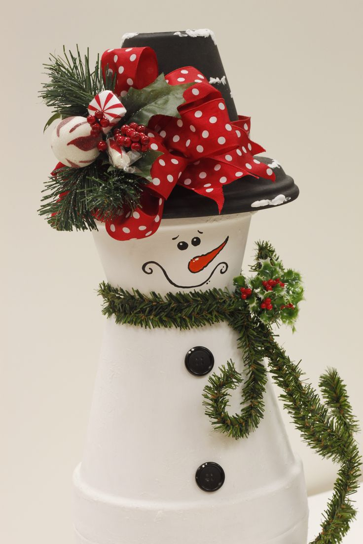 Clay Pot Snowman by Linda A.C. Moore Waldorf, MD