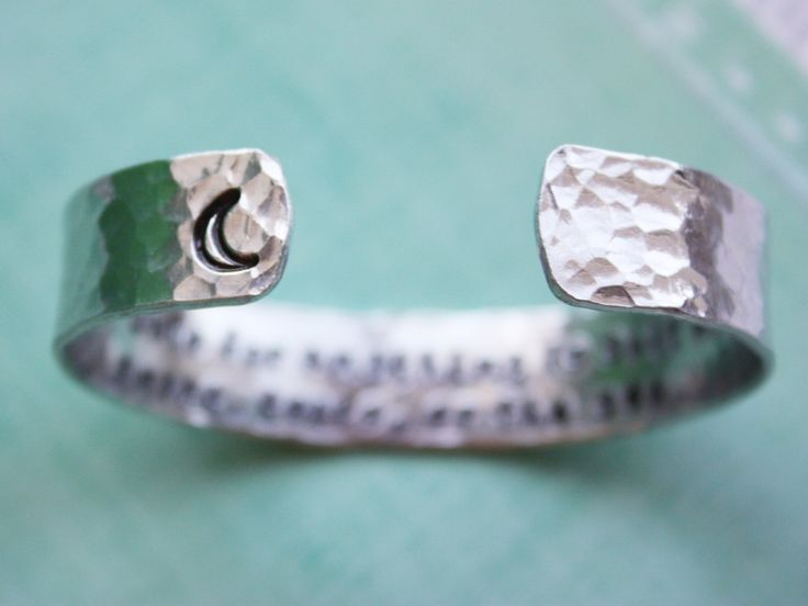 The cure for anything is salt water...quote cuff by ZennedOut, $29.50