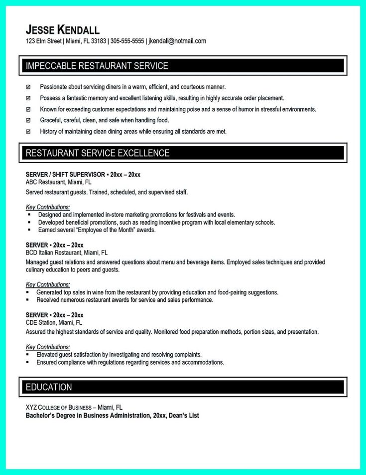 Standard Font Size For Resume Nice Attractive But Simple Catering Manager Resume Tricks  Resume .