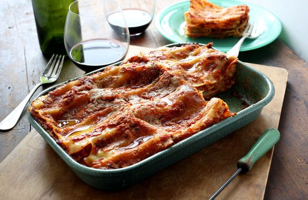 Lasagna With Spicy Roasted Cauliflower #pepper #ricotta #parmesan