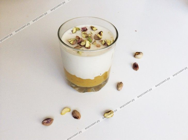 Панакота с пюре из манго пошаговый рецепт с фото