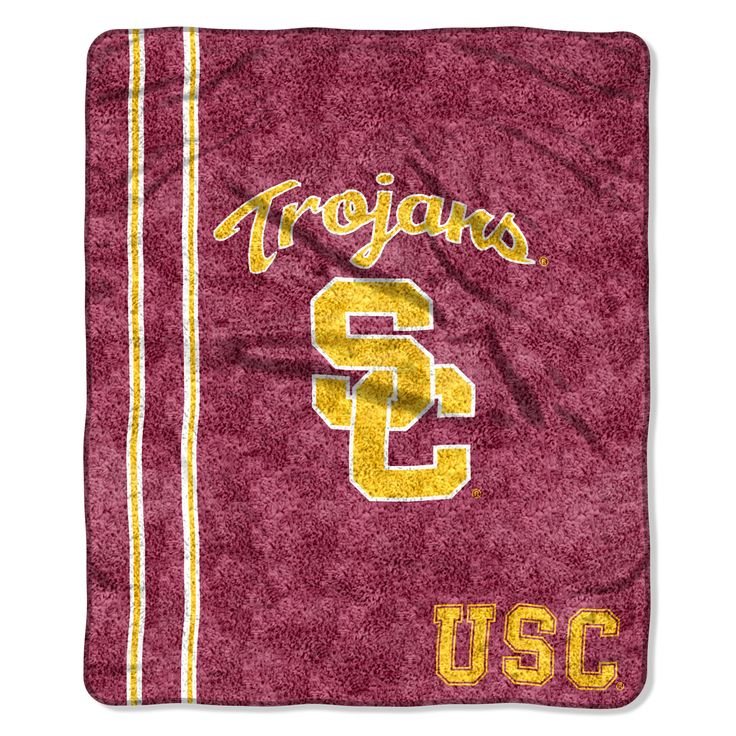 "USC College """"Jersey"""" 50x60 Sherpa Throw"