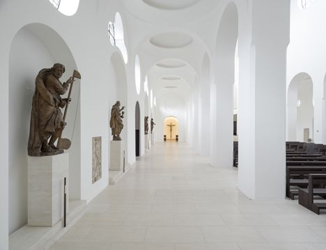 Classical forms meet minimalist treatment in John Pawson's renovation of a church.