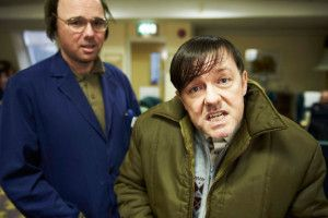 """Ricky Gervais plays the title character in the new comedy Derek, which starts streaming on Netflix on Wednesday.  'Derek"""" puts laughs in a Nursing Home."""