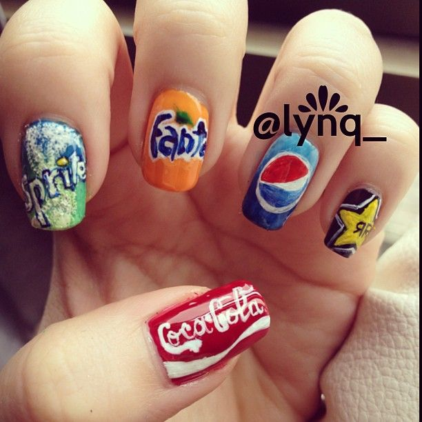 Coca cola sprite fanta pepsi rockstar nails fashion nails pinterest nail nail sodas and nails Fashion style and nails facebook