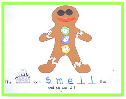 Have the children make this rebus book during the holiday season to learn the five senses through the sequential retelling of the classic folk tale The Gingerbread Man. This book is a non-biased way of bringing the sights and sounds of the season into your classroom without placing emphasis on any holiday. ($)
