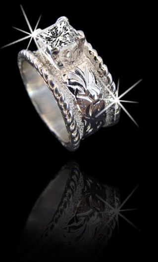 5049 10mm wide band made and sold online by cowboyjewelerscom shown here in solid western wedding jewelrywestern engagement ringswestern - Western Style Wedding Rings