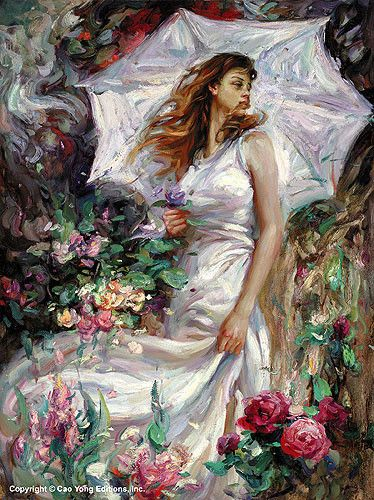 """CAO YONG """"Summer Breeze"""" Limited Edition H/E CANVAS 26.5"""" by 20"""""""