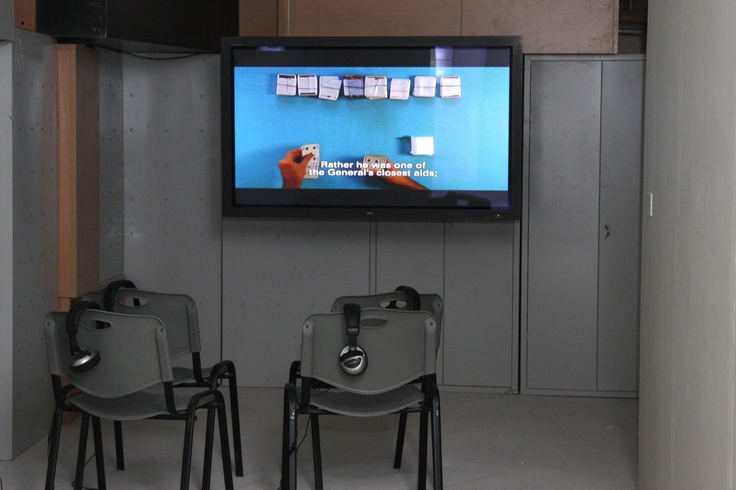 "Michael Stevenson Introduccion a la Teoria de la Probabilidad, 2008 DVD (b/w and colour), dubbed from HD and 16mm originals, 25' 38'' Courtesy of the artist & Vilma Gold, London Installation view, 2nd Athens Biennale 2009 ""Heaven"""