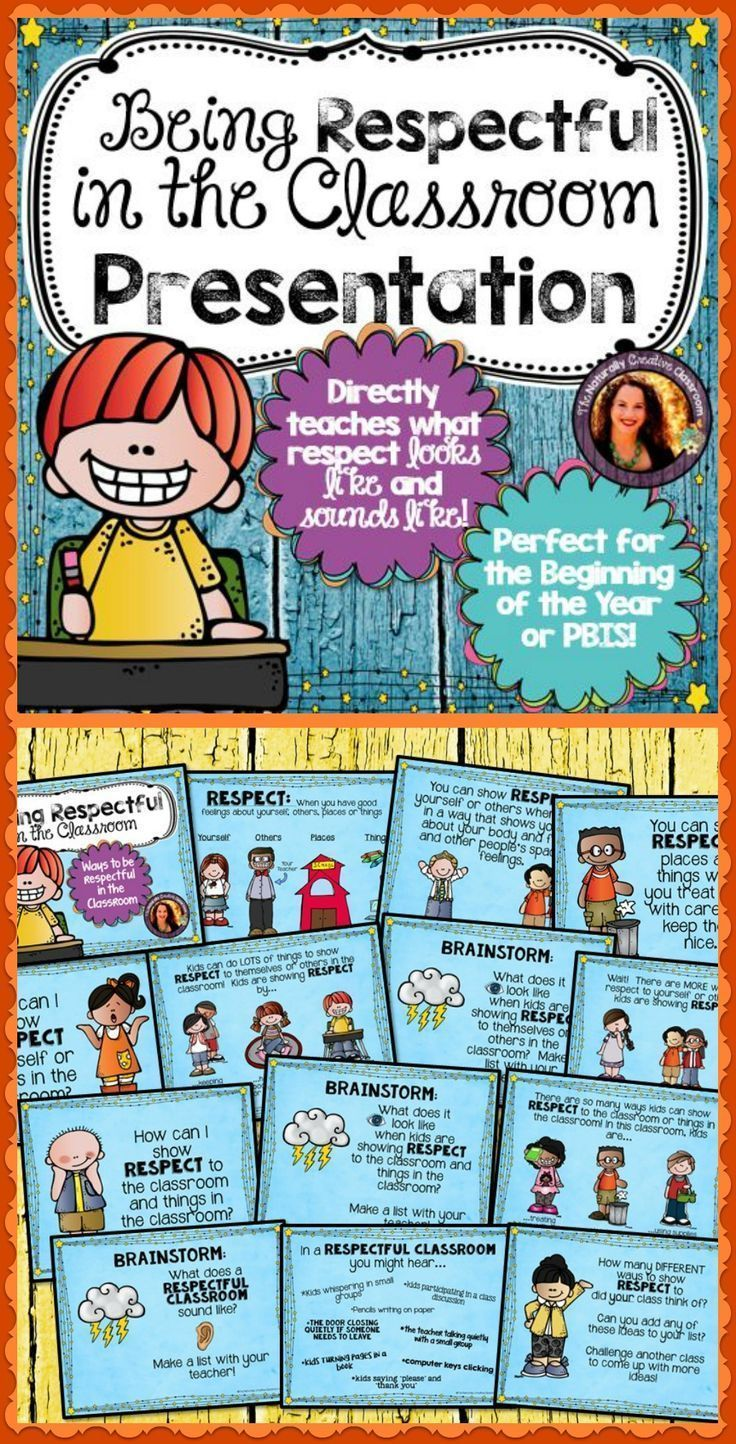What does being respectful in the classroom look like and sound like?  This presentation is perfect for teaching students all about showing respect in the classroom.  It gives them concrete examples and visuals.  Perfect for social groups, behavior manage