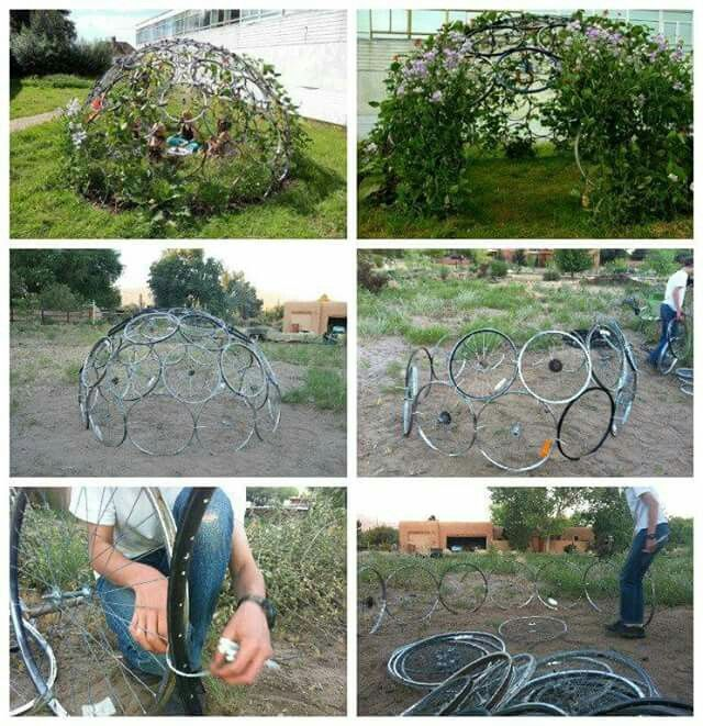 This is awesome!! Would love to do something larger, maybe enough to have a gazebo style place to have a table and chairs.
