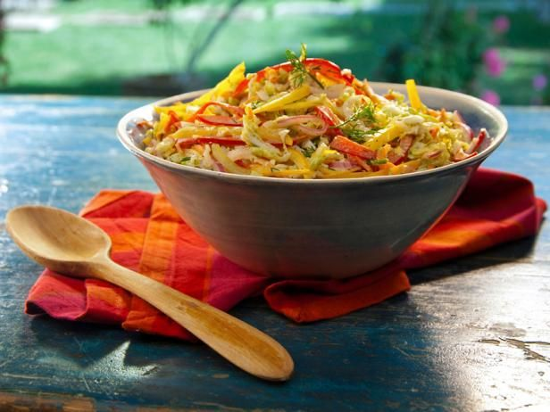 Get Bobby Flay's Coleslaw with Creamy Cumin Vinaigrette Recipe from Food Network
