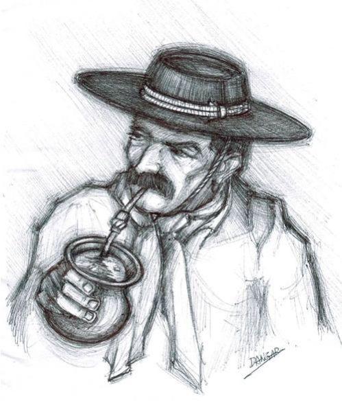 El Gaucho Argentino; origen étnico: Yerba Mates, Ilustracion Mates, Serving Mates, The Kill, Mates Gaucho, Of The, Drinks Mates, Argentine Gaucho, The Gaucho