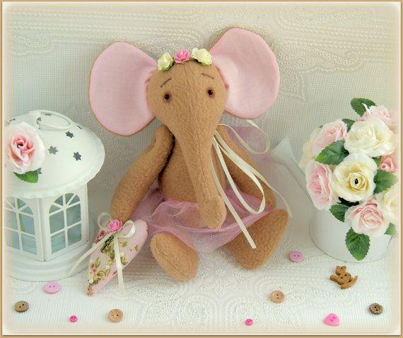 Fabric stuffed elephant soft toy Stuffed Animals gift for children cloth toy слон мягкая игрушка plush soft toy