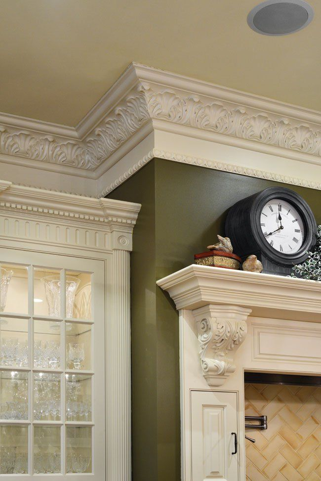 its a double take for these kitchen design ideas crown molding - Decorative Wall Molding Designs