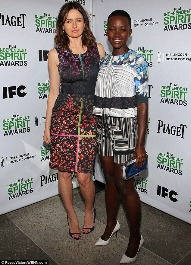 Time for mingling: The London-born star made Spirit Award nominee Lupita Nyong'o feel welcome at the event that precedes the Film Independen...