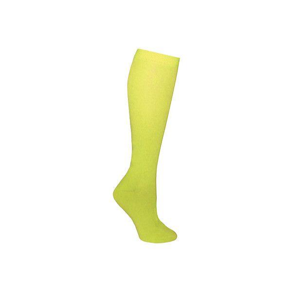Women's Ozone Neon Basic Knee High Sock (2 Pairs) - Green Casual Socks ($28) ❤ liked on Polyvore featuring intimates, hosiery, socks, green, synthetic socks, double layer socks, knee socks, green knee high socks and green hosiery