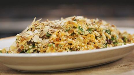 Wortelsalade met couscous en honingdressing