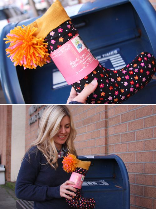 A whole list of fun gifts that you can put straight into the mailbox (no boxing up!) Everything from a stocking to a waterbottle, to flipflops to a shovel and bucket.  See the whole list at the end of the post.