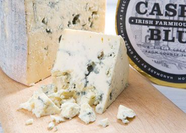 Ireland- Cow's Milk.It is made in a similar way to Roquefort although it is softer, more moist and less salty. When young the cheese is firm and relatively moist with a fresh and slightly sharp flavour. With ageing it develops a melt-in-the-mouth creaminess and a rounder, mellower flavour