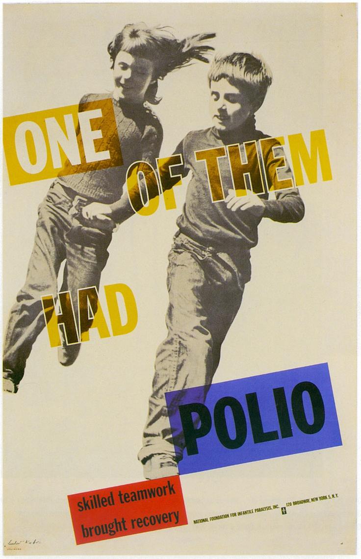 Poster design 1950 - National Foundation For Infantile Paralysis Poster By Herbert Matter 1950