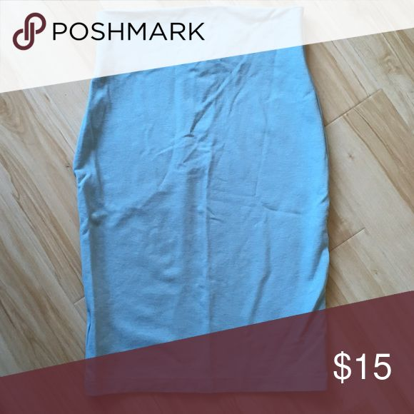 Sleek Light Blue Pencil Skirt Adorable light blue pencil skirt in great condition! WINDSOR Skirts Pencil