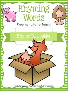 """Freebie!  This product goes with my packet of <a href=""""http://www.teacherspayteachers.com/Product/Rhyming-Games-Worksheets-Phonemic-Awareness-CCSS-Aligned-for-Kindergarten-684366"""">Rhyming Games & Activities for Centers</a>.   Rhyme Generation is a particularly tough skill for students to master.  These fold over strips contain sentences to cue your students to generate the rhyming word hidden beneath the flap.  As they are easy to guess they give confidence to struggling students whilst…"""