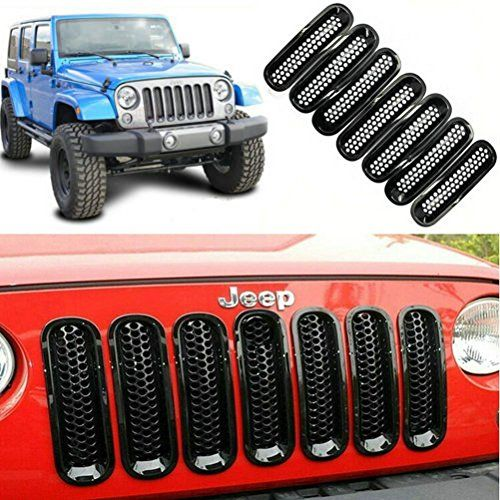 Danti Black Front Grille Insert Kit For Jeep Wrangler JK or JKUDanti Black Front Grille Insert Kit For Jeep Wrangler JK or JKU Fit for Jeep Wrangler JK JKU Sports Sahara Freedom Rubicon X & Unlimited X 2/4 door 200