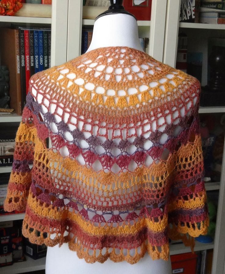 A Little Of This A Little Of That Shawlette By Teri DiLibero - Free Crochet Pattern - (ravelry)