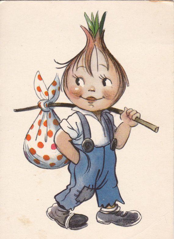 1963 postcard Illustration by Suteev