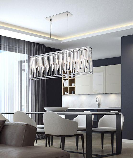 Best 25 Linear Chandelier Ideas On Pinterest  Dining Room Entrancing Crystal Dining Room Chandelier Design Inspiration