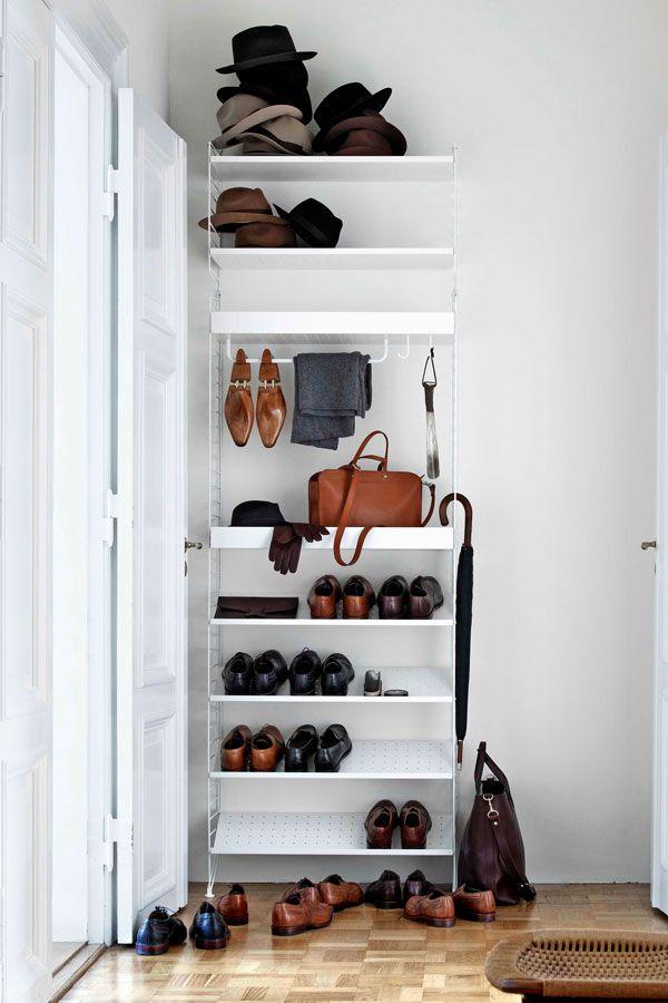 7b5f0ba3431 Guide: Sådan får du plads til alle dine sko | Opbevaring: Kreative ideer,  der skaber plads // Save some space: Storage ideas for your home | Shoe  shelves, ...