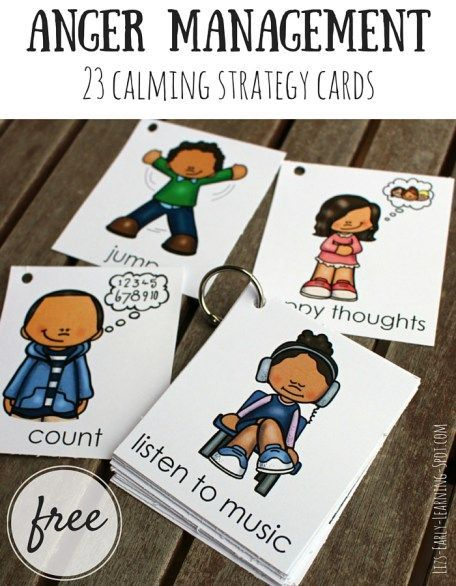These free cards are great for talking to kids about calming themselves. Let them pick their favorite strategies to try! - repinned by @PediaStaff – Please Visit ht.ly/63sNt for all our pediatric therapy pins
