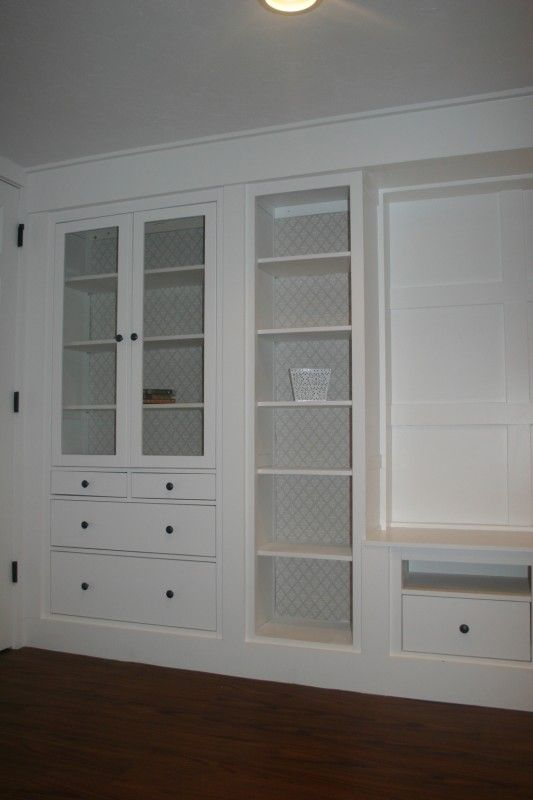IKEA Hackers: Hemnes pieces to Built In Media Wall--check this out for enterainment center--awesome step by step!