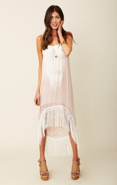 Gypsy 05 organic maxi dress in white
