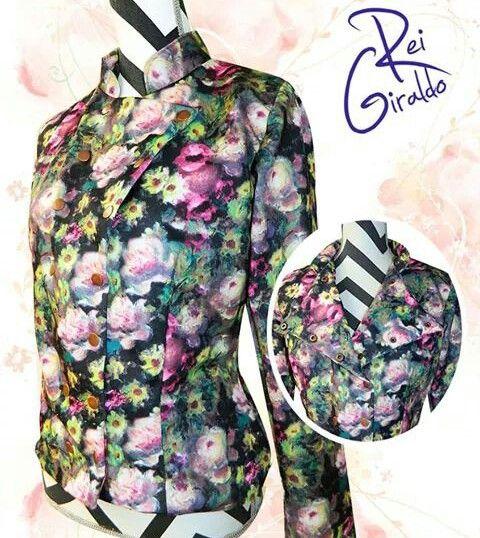 Military jacket #FlowerPrint #ReiGiraldo #Trendy #FashionGirl