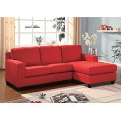 Exceptional Red Sectional Sofa With Chaise Part 14