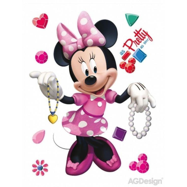 Minnie egér rózsaszín ruhás faldekoráció