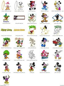 Free Machine Embroidery Designs Download: Mickey & Minnie Mouse - 101 embroidery designs