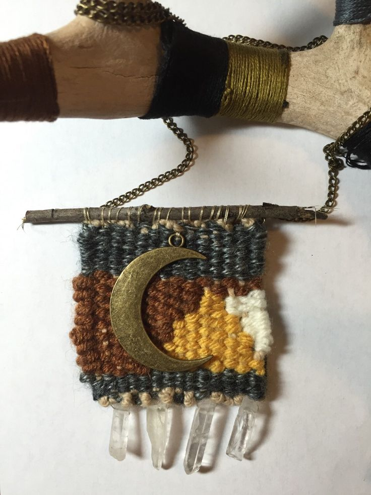 A personal favorite from my Etsy shop https://www.etsy.com/listing/263889520/woven-tapestry-necklace-woven-necklace