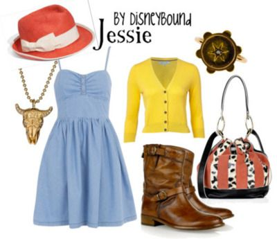 this is another outting fit: Disney Inspiration Outfits, Disney Outfits, Disney Style, Halloween Costumes, Cowgirl, Disneybound, Disney Bound, The Dresses, Toys Stories